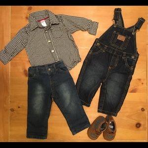 Denim 6m & 6-9m Baby Boy Outfit